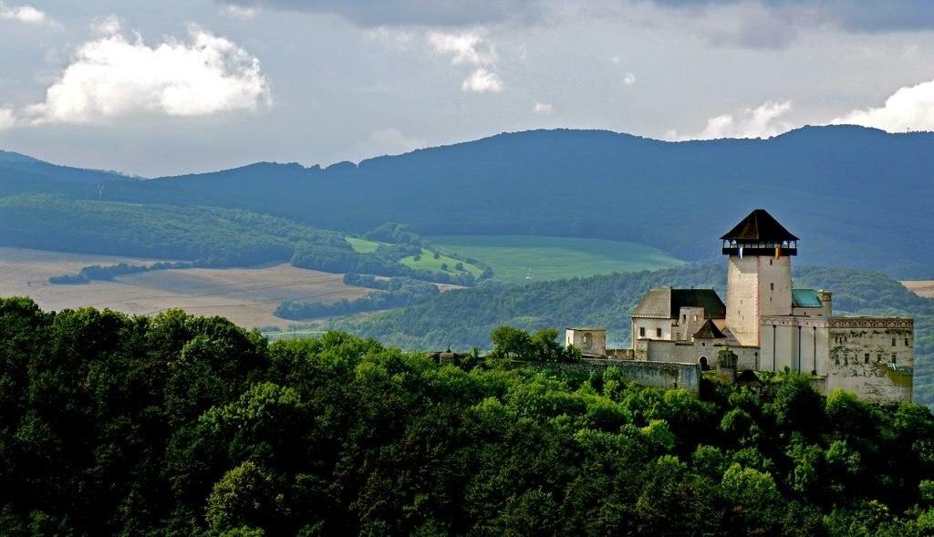 Burg in Trenchin, Slowakei