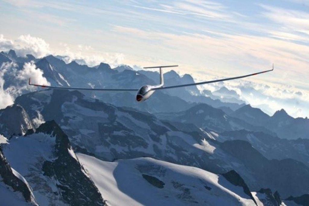 Segelfliegen in den Alpen