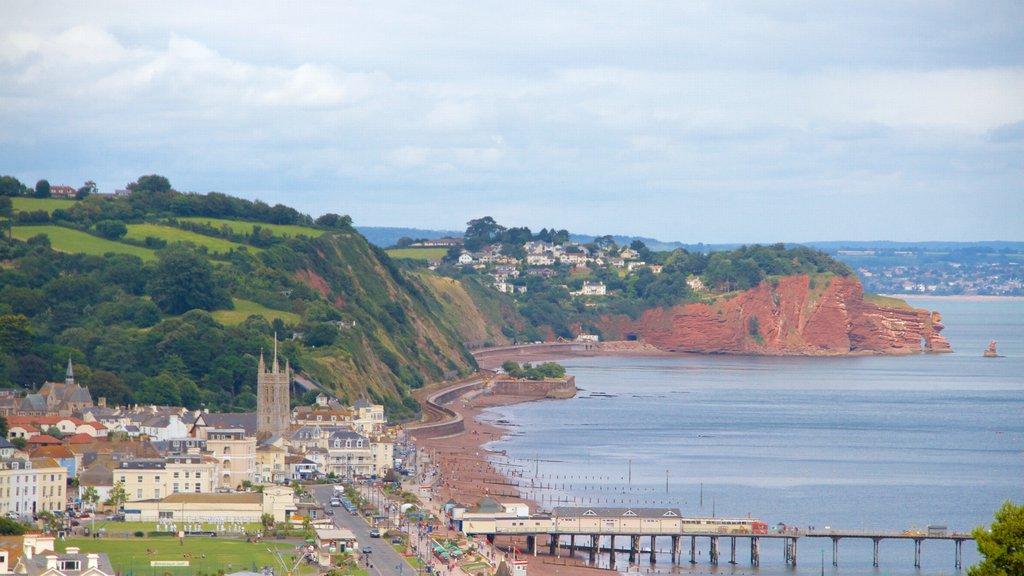 Teignmouth featuring a coastal town, a bridge and general coastal views