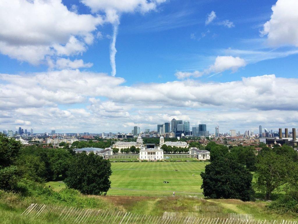 Aussicht von Greenwich Park in London