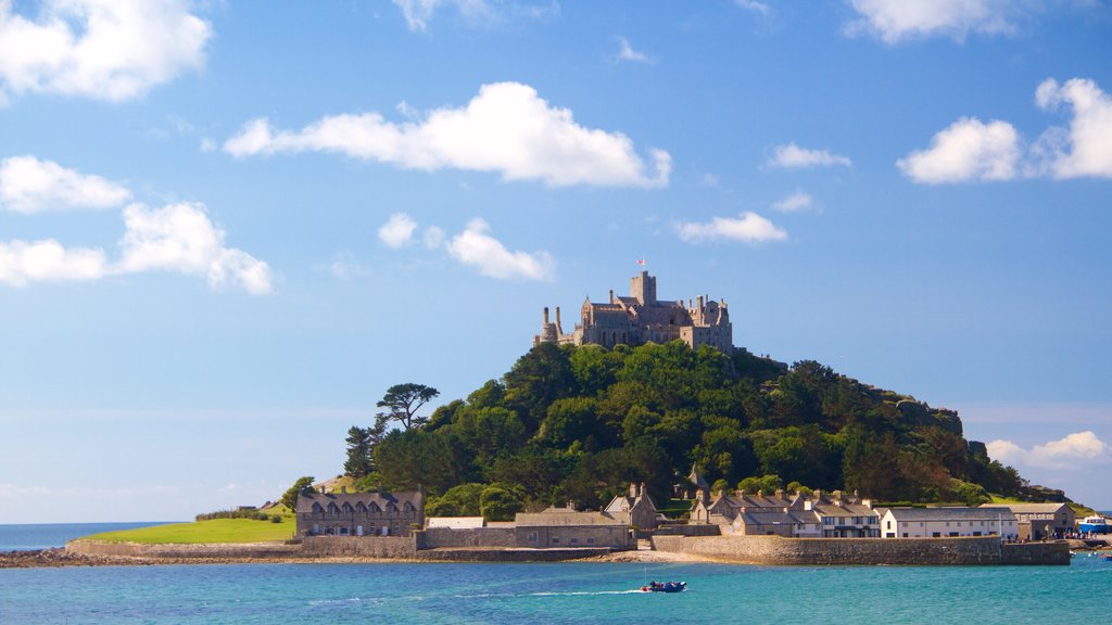 St. Michael\'s Mount which includes island views, heritage elements and general coastal views