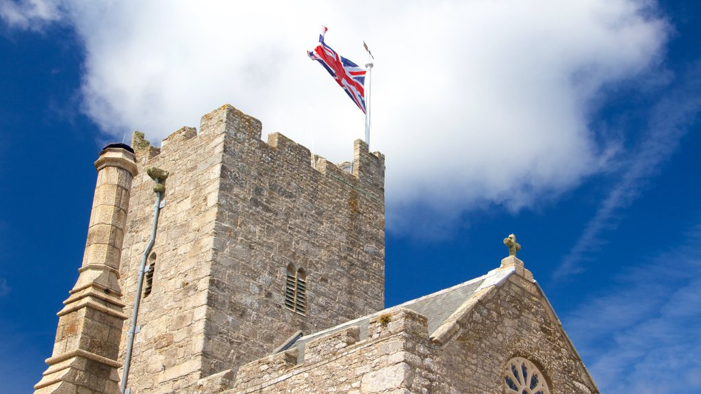St. Michael\'s Mount which includes a castle, heritage elements and heritage architecture