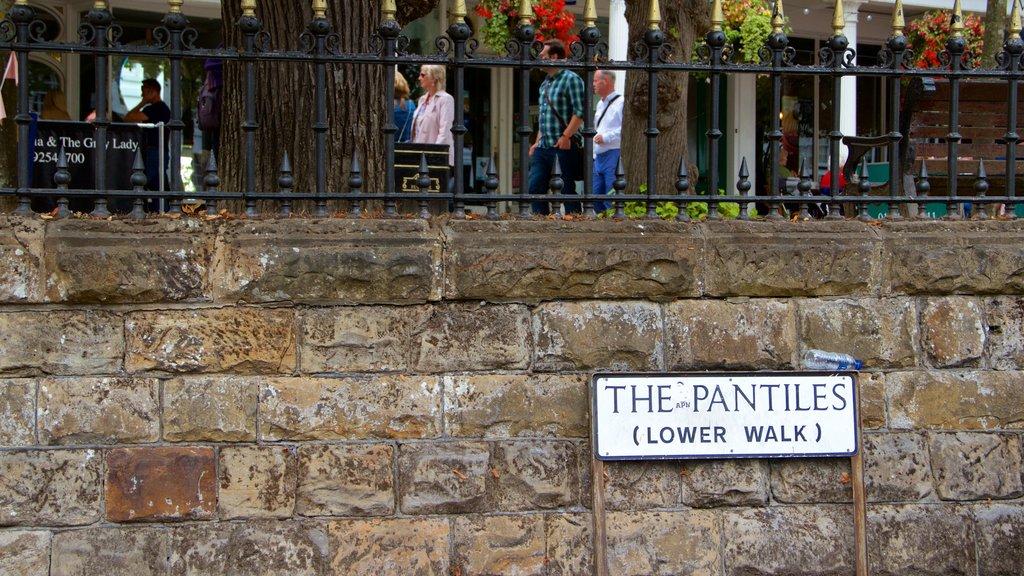 Pantiles showing signage