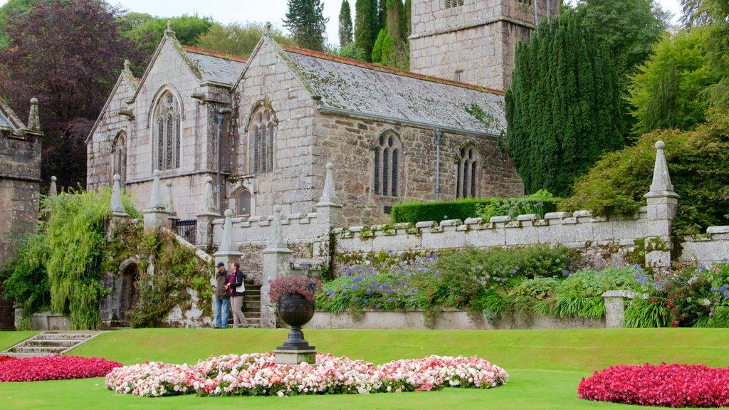 Lanhydrock featuring flowers, chateau or palace and heritage elements