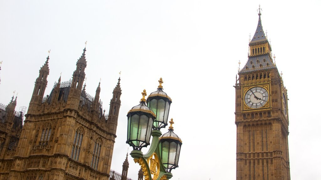 ロンドン フィーチャー 広場, 遺跡・遺産 と 記念建造物