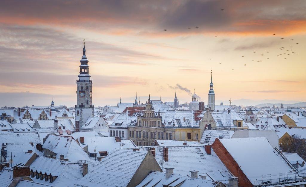 Altstadt von Görlitz im Winter