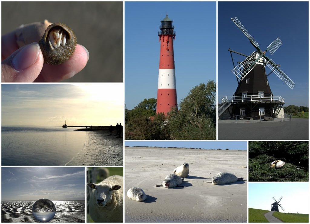 Postkarten Pellworm, Nordsee