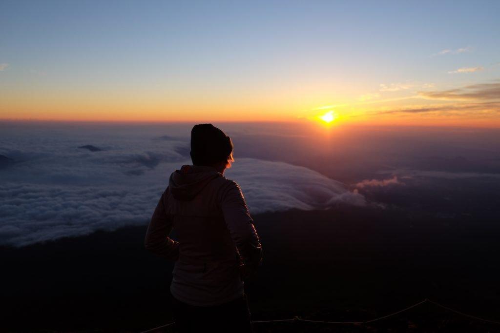 Sonnenuntergang auf dem Fujisan