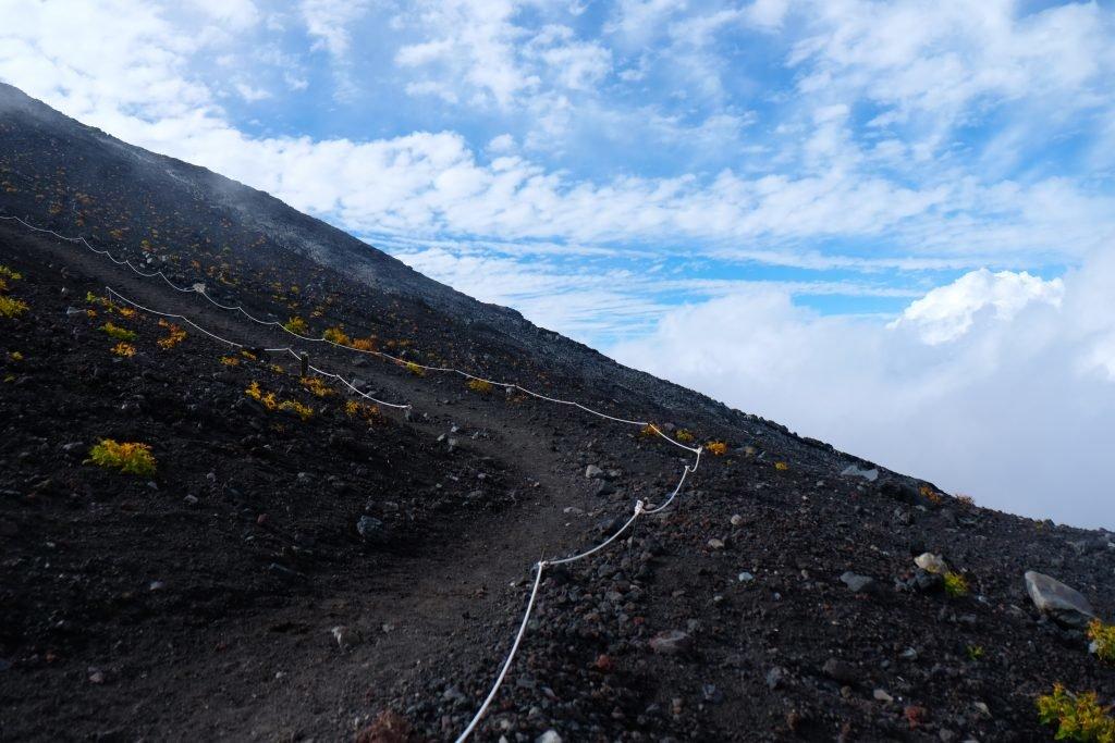 Wanderweg auf dem Mr. Fuji