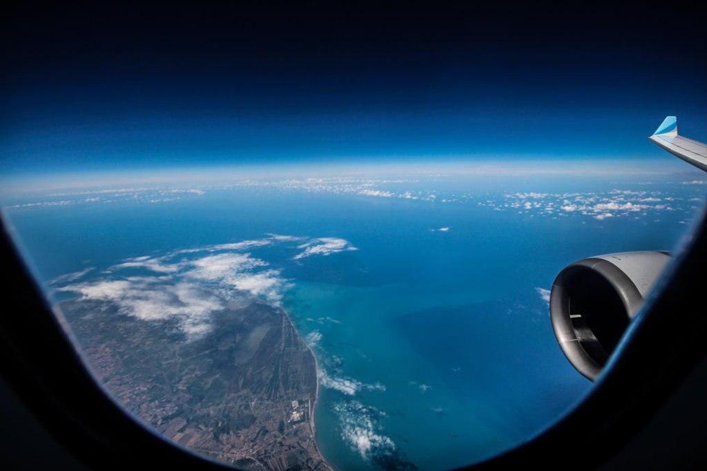 flug-schwarzes-meer, Blick aus dem Fenster