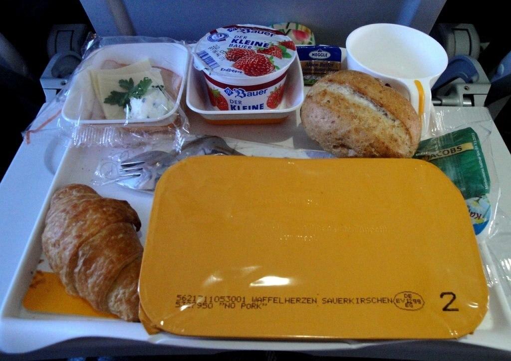 Flugzeug, Essen