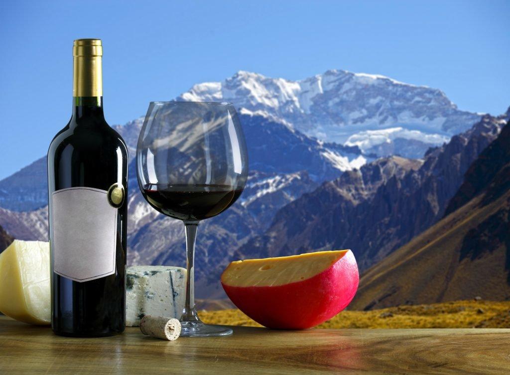 Wein, Käse, Schweizer Alpen