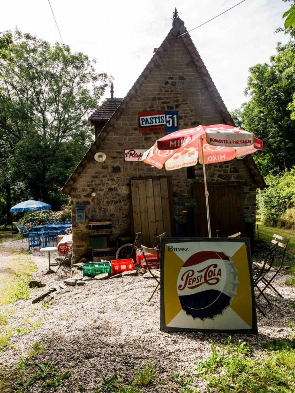 Cafe la Dame Blanche, normannische Schweiz