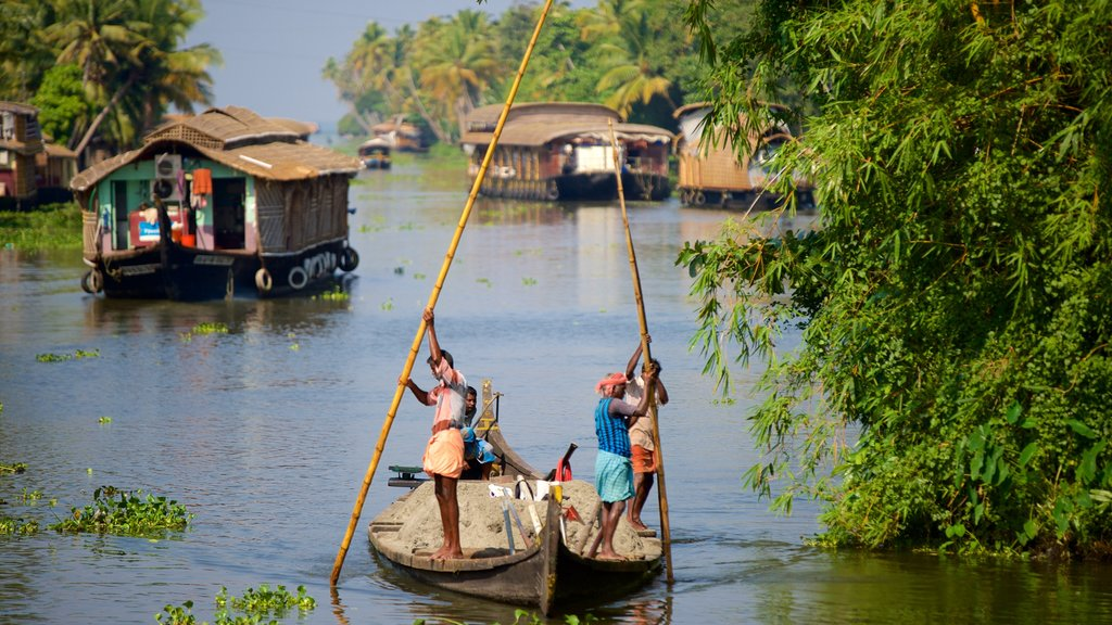 Alappuzha District which includes a river or creek and kayaking or canoeing