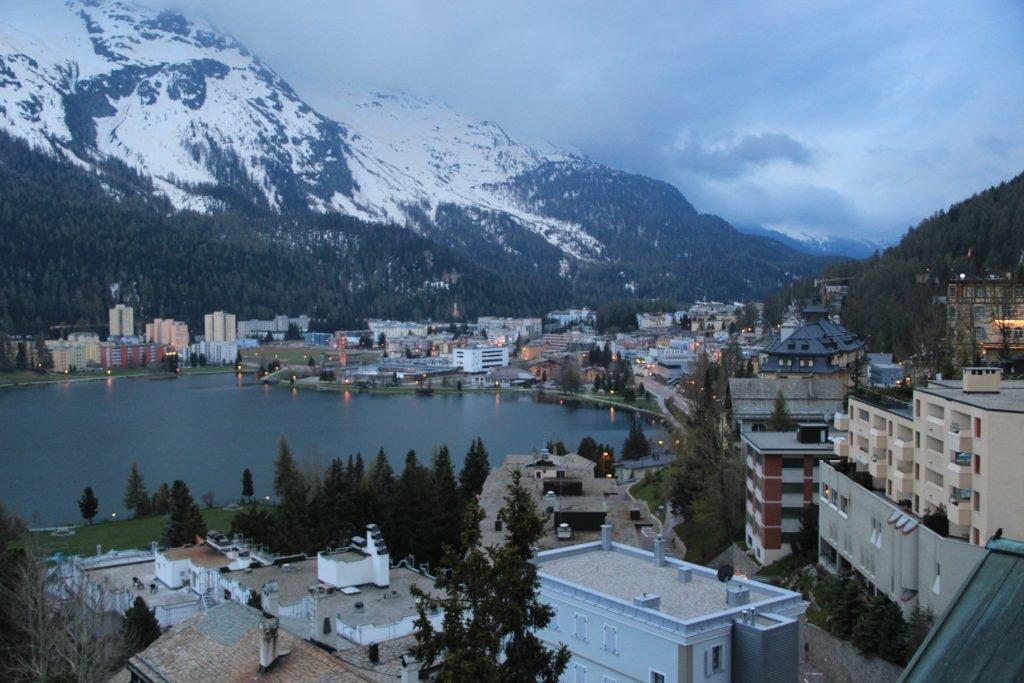 St. Moritz in den schweizer Alpen