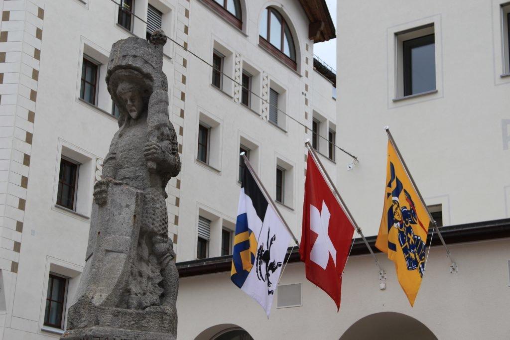 Schweizer Flaggen