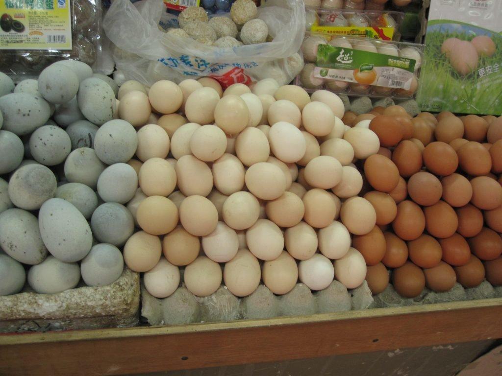 Eier auf Markt in Peking