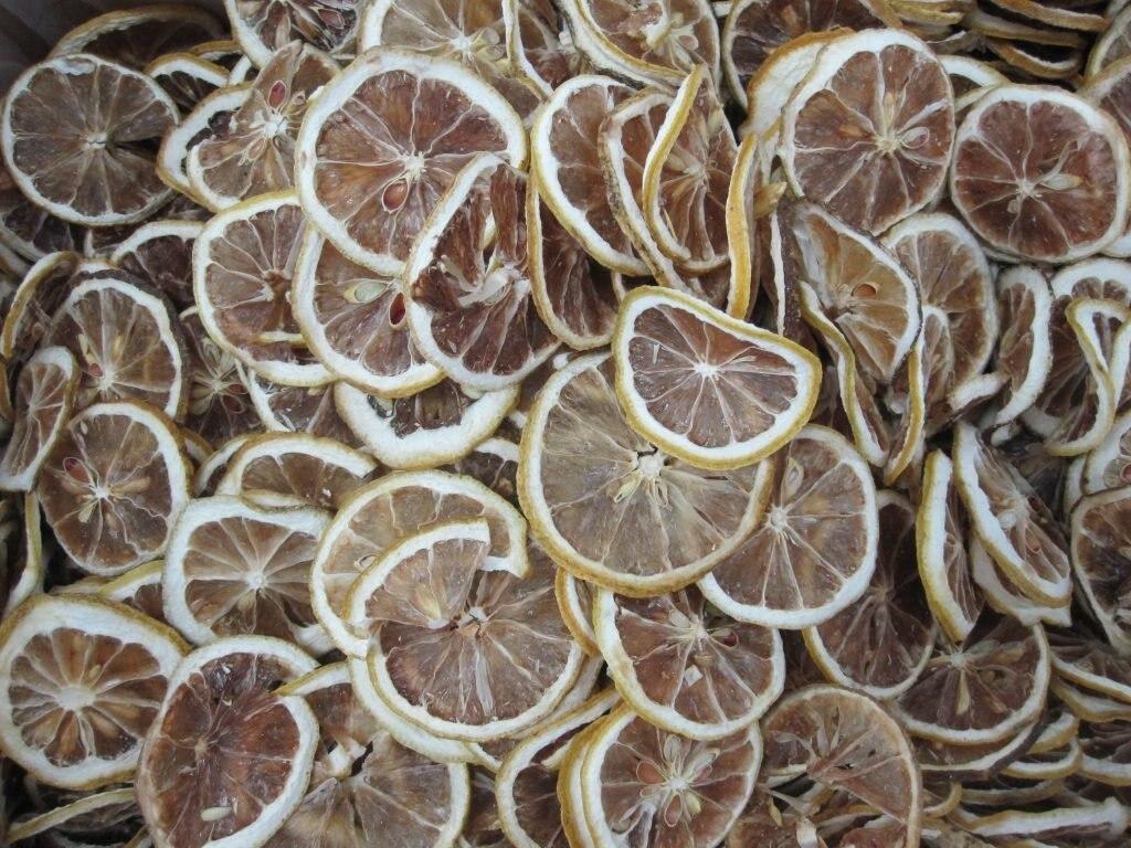 getrocknete Zitronenscheiben