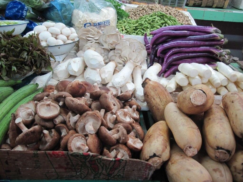Gemüse auf Markt in Peking