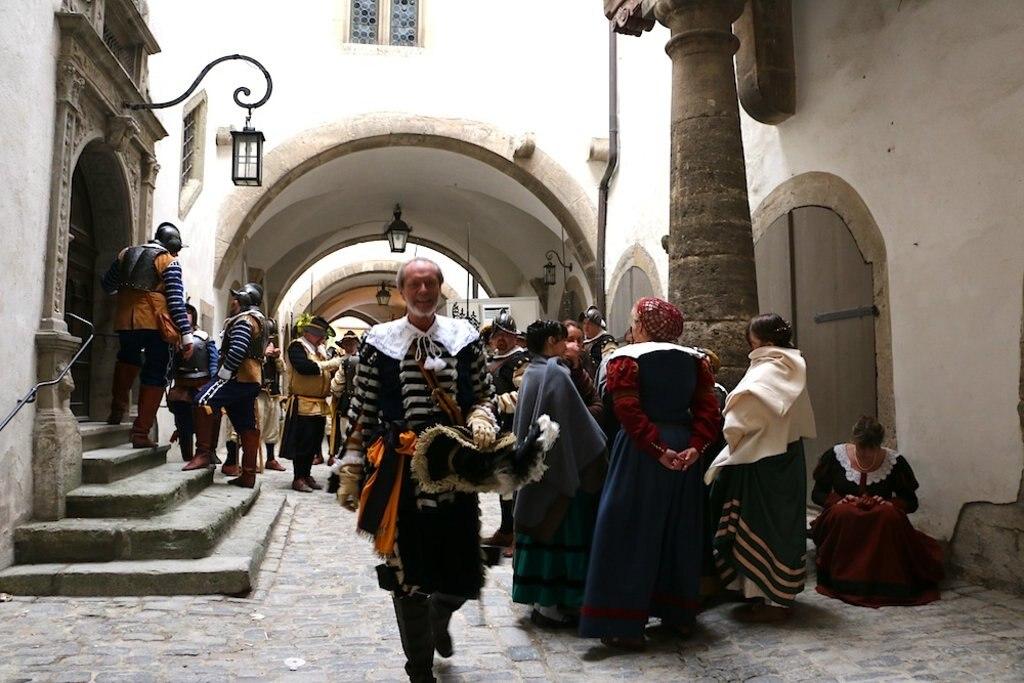 Kostüme, Mittelalterfest, Rothenburg, Altstadt
