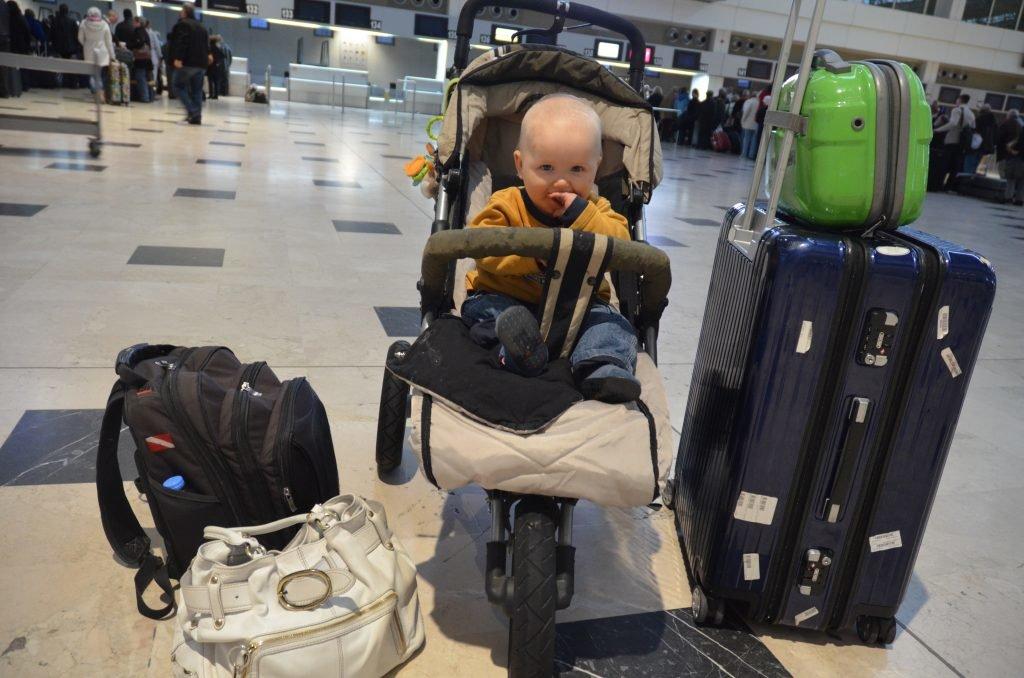 Reisen mit Kind, Flughafen