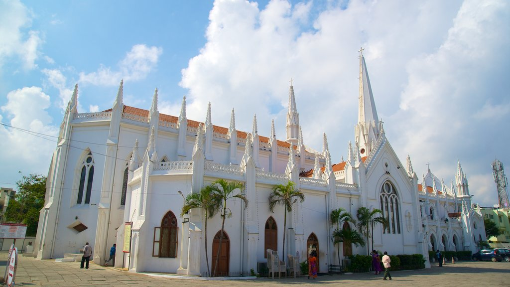 San Thome Cathedral featuring a church or cathedral