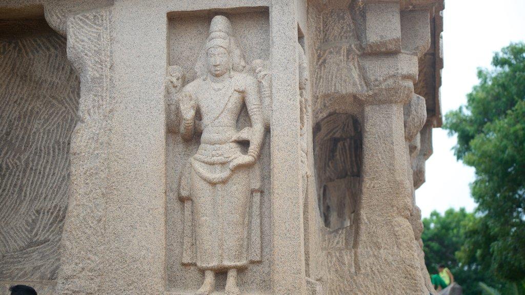 Pancha Pandava Rathas showing heritage elements
