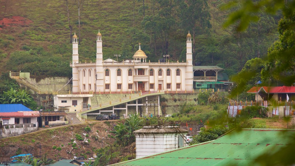 Munnar showing a mosque