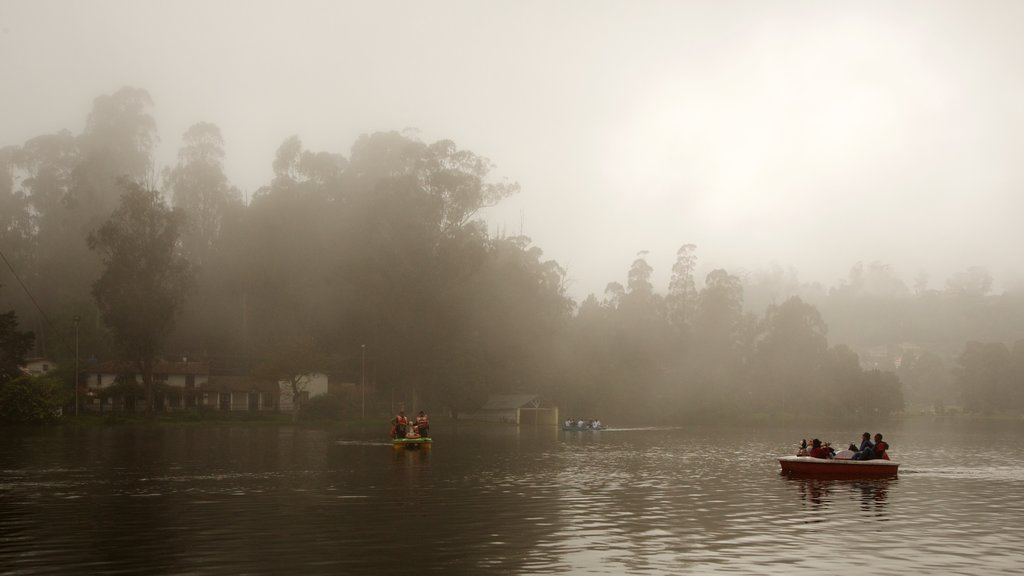Kodaikanal which includes a lake or waterhole and kayaking or canoeing