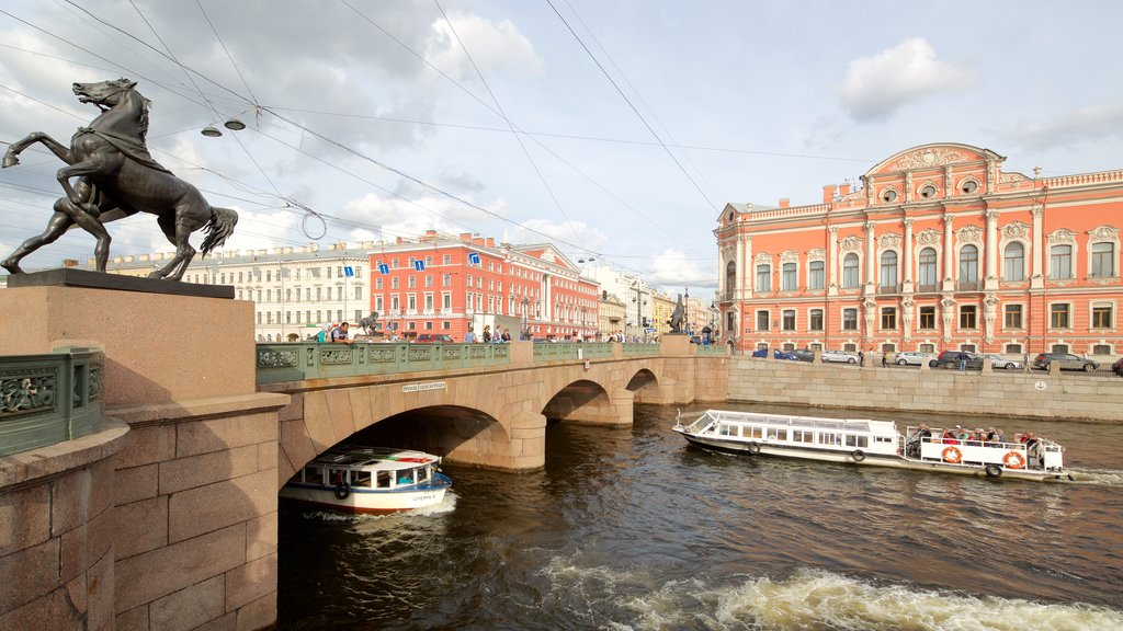 St. Petersburg which includes a ferry, a city and a river or creek
