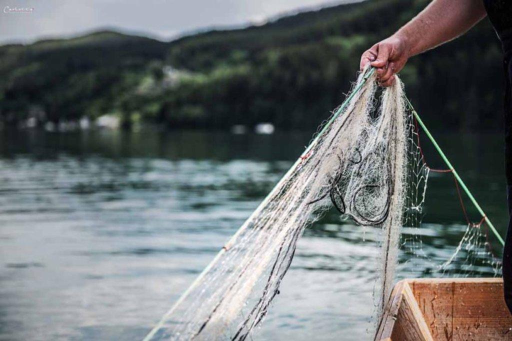 Anfischen am See