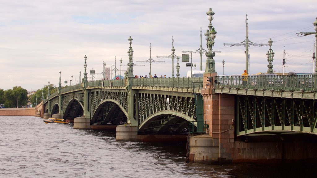 St. Petersburg featuring a bridge, heritage architecture and a river or creek