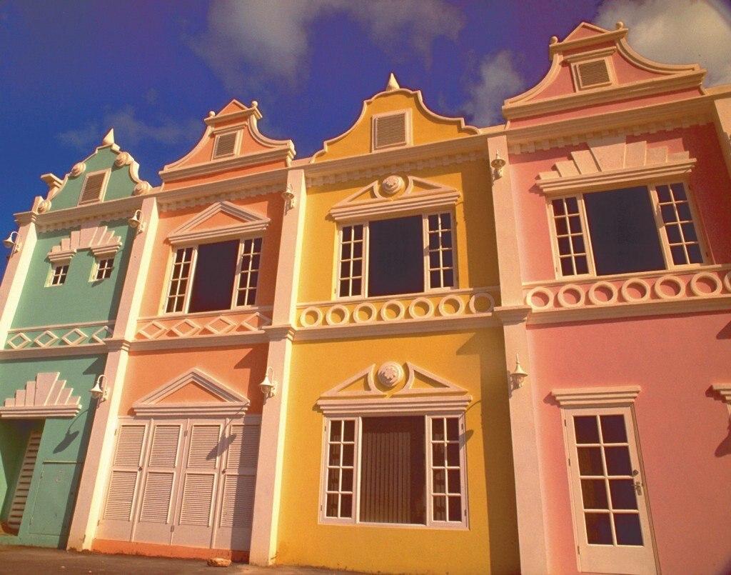 Bunte Haeuser in Aruba