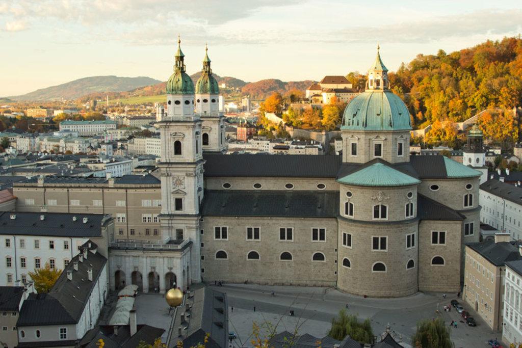 Blick von der Festung auf den Salzburger Dom © Markus Kremsl