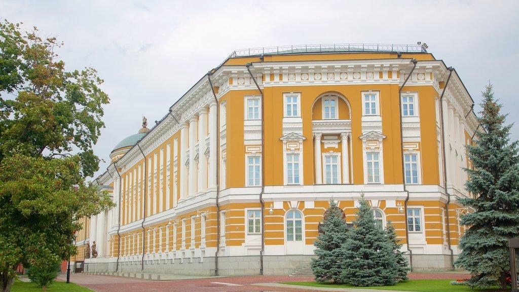 Kremlin de Moscú que incluye patrimonio de arquitectura