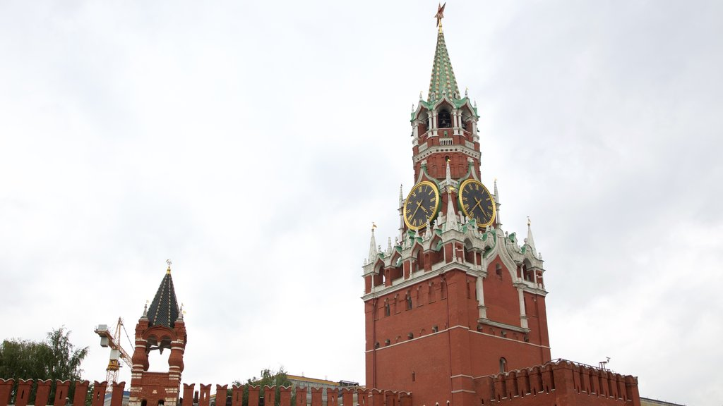 Moscow Kremlin which includes heritage architecture