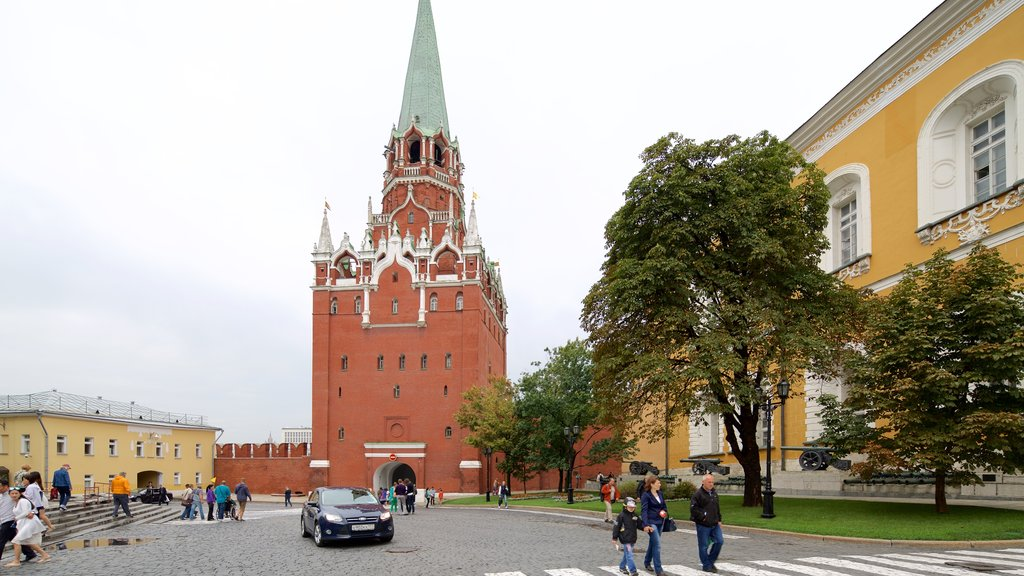 Moscow Kremlin showing heritage architecture
