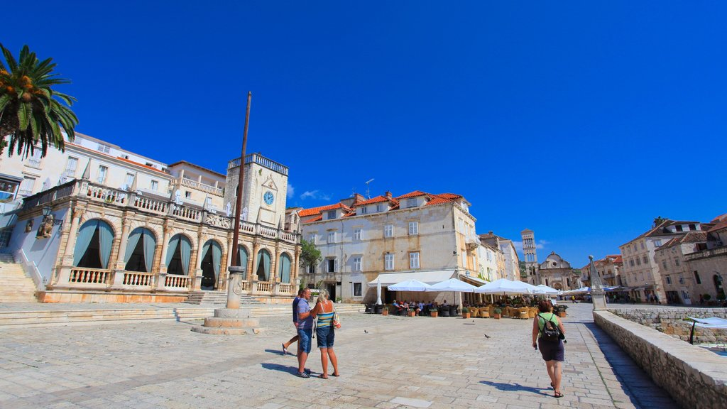 Hvar featuring a square or plaza