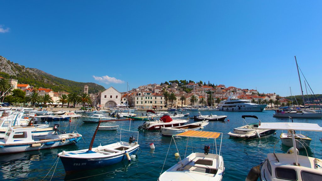 Hvar which includes a marina