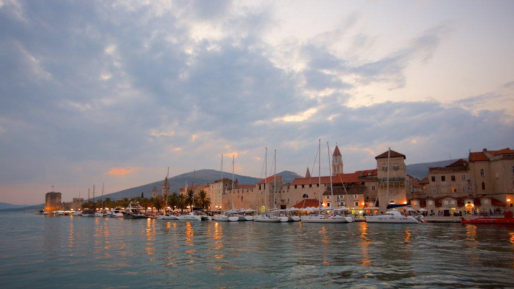 Trogir featuring general coastal views and a coastal town