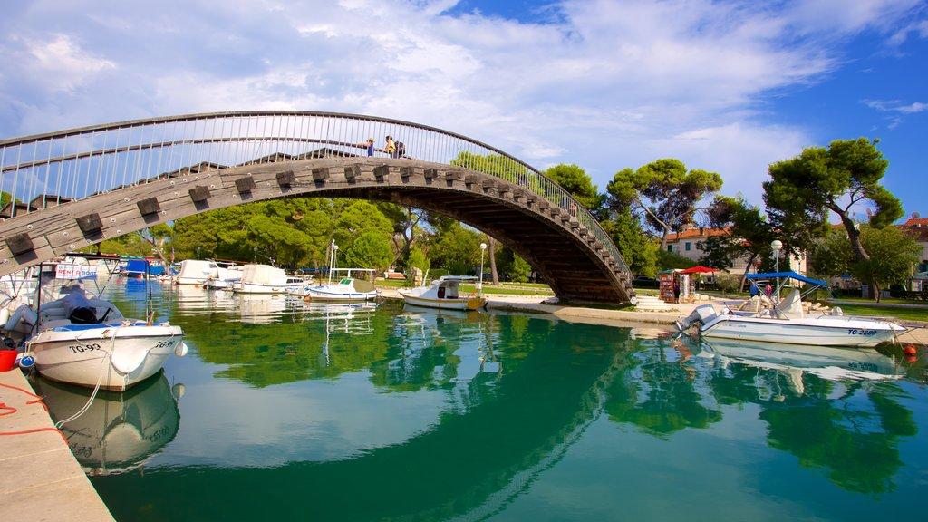 Trogir which includes a bridge and a marina