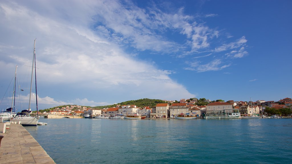Trogir which includes a river or creek and general coastal views