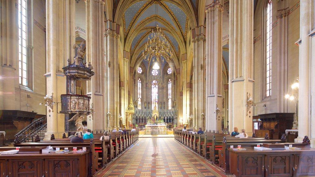 Zagreb Cathedral showing interior views and a church or cathedral