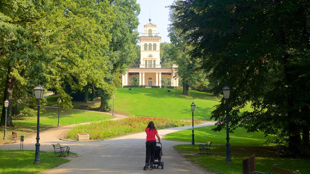 Park Maksimir featuring a park and heritage architecture as well as an individual femail