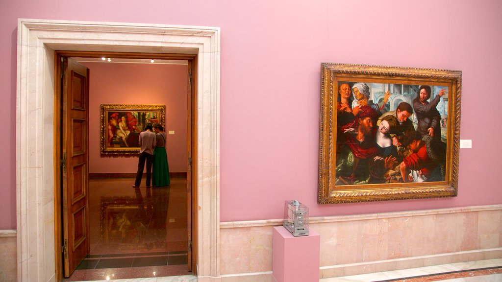 National Museum of Art of Romania featuring art and interior views
