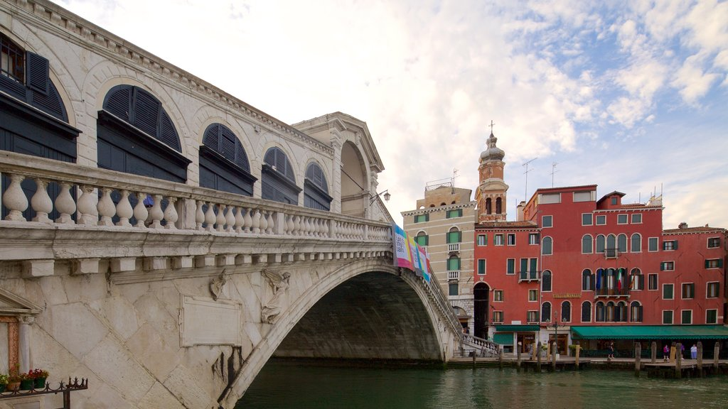 Venice showing a river or creek and a bridge