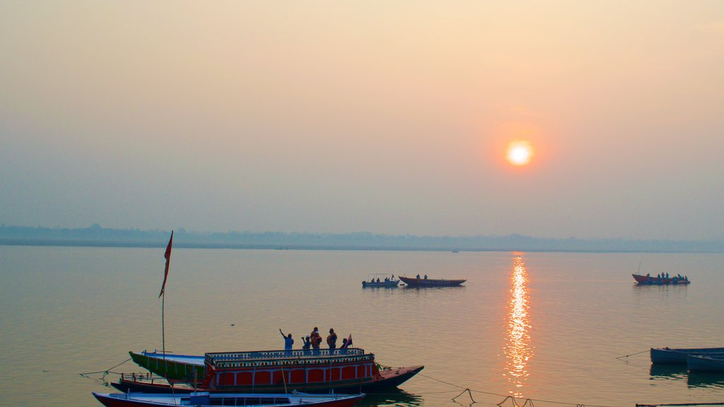 Tulsi Ghat featuring boating, a sunset and kayaking or canoeing