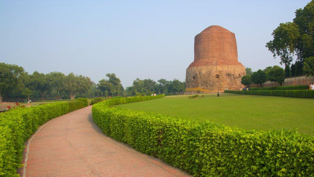 Dharmarajika Stupa featuring a park