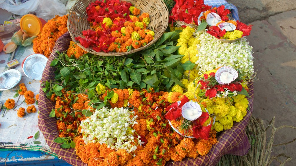 Dasaswamedh ghat featuring flowers