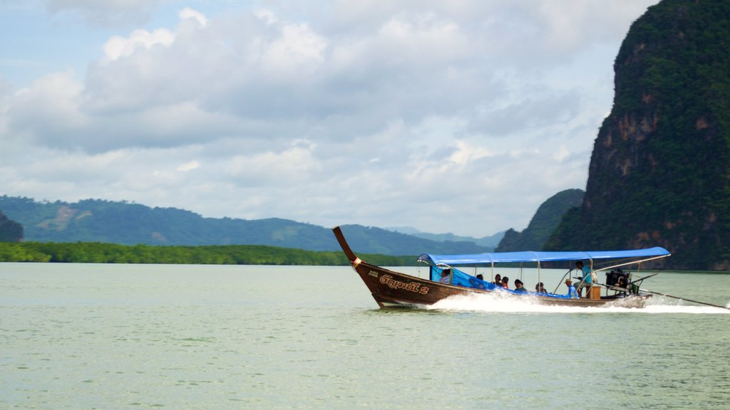 Phang Nga which includes a lake or waterhole and boating
